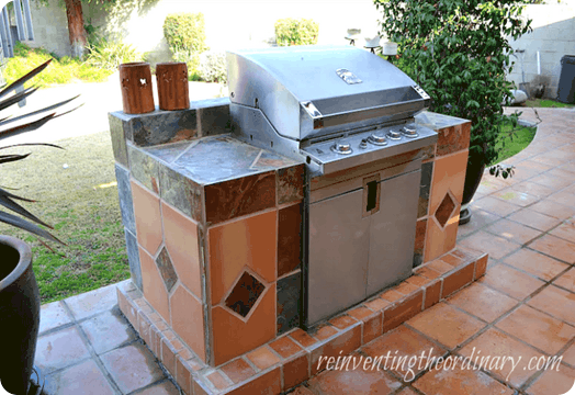 diy built in barbecue