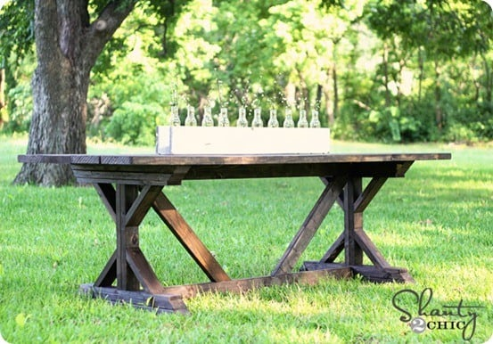 The design for this table was inspired by the Modern Farmhouse Table ...