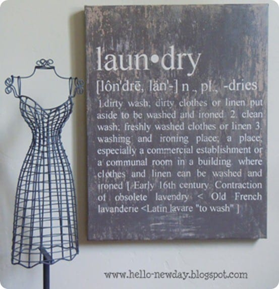 diy laundry definition art