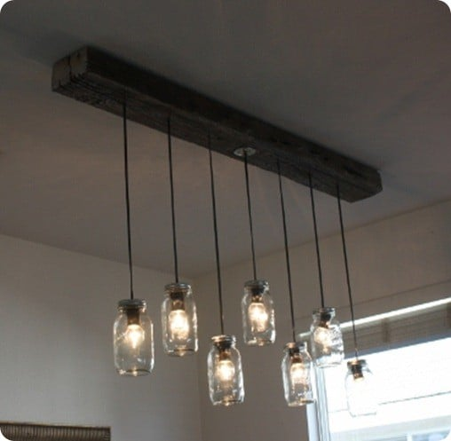 diy mason jar chandelier 2