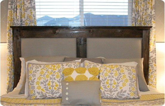 diy upholstered linen headboard