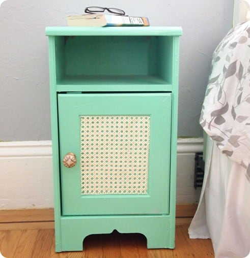 mint green nightstand