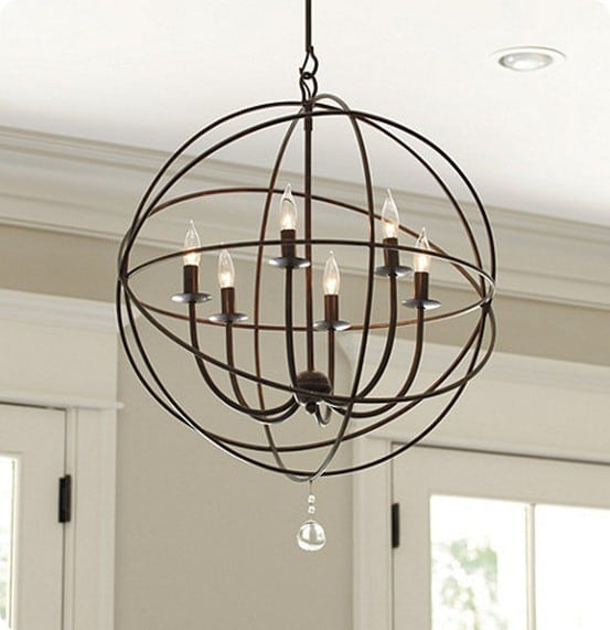 orb 6-light chandelier ballard designs