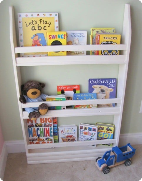 pb kids inspired standing bookshelf