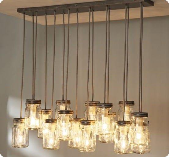 pb mason jar chandelier