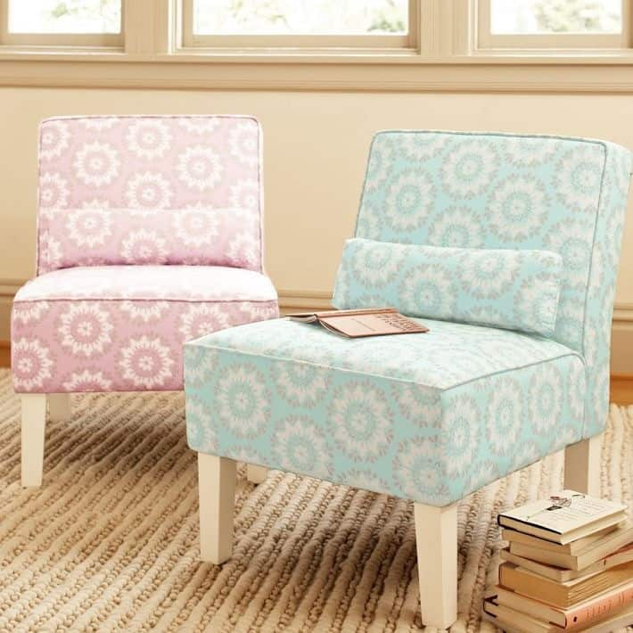Upholstered accent chair for Small room seating ideas