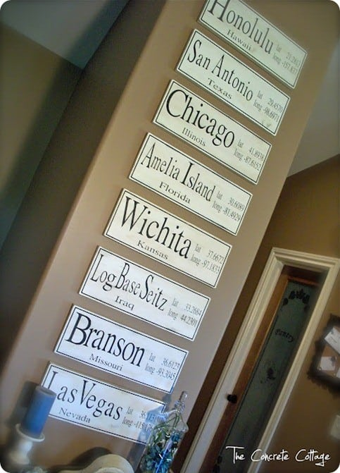personalized latitude and longitude signs