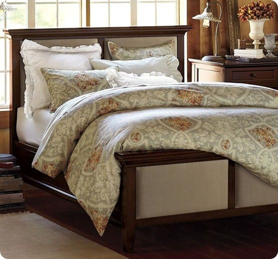 pottery barn hudson upholstered bed