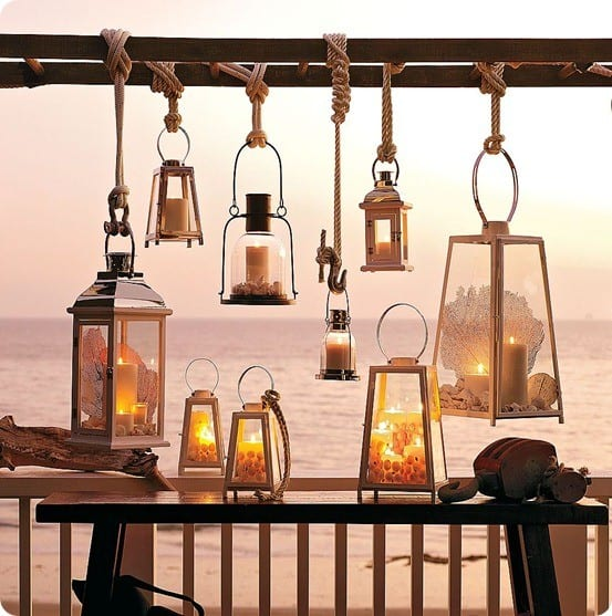 Patio Lights Pottery Barn: Outdoor Hanging Lanterns