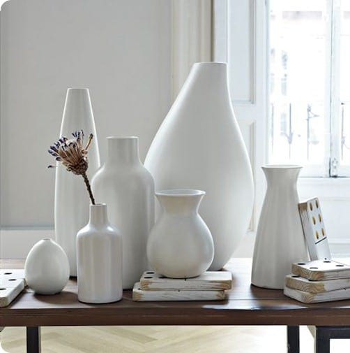 pure white ceramic vases west elm