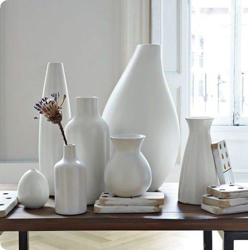 pure white ceramic vases west elm