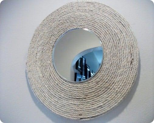 round rope mirror. Black Bedroom Furniture Sets. Home Design Ideas