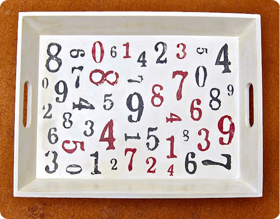 tray with numbers