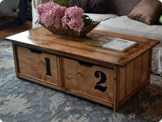 20 second tidy up trundle coffee table