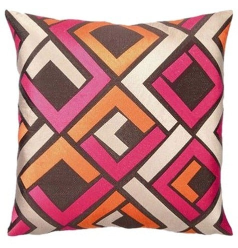 Avenida Maze Pillow in Pink Trina Turk