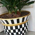 Black and White Painted Planter