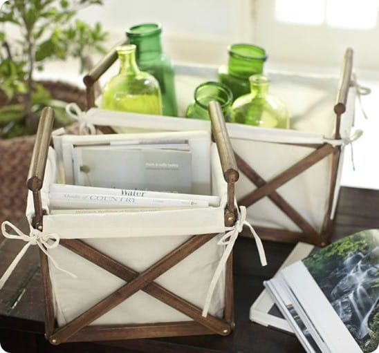 Canvas & Wood Crate