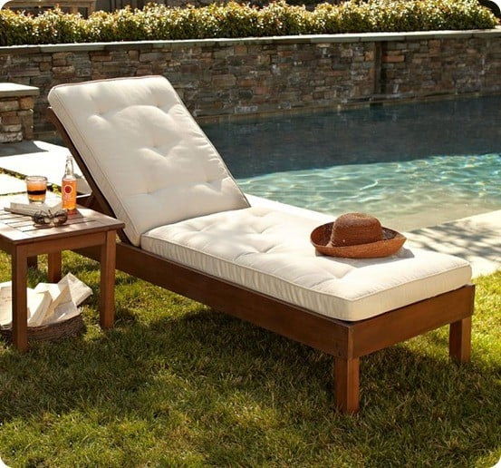 Chaise lounge chairs for Build outdoor chaise lounge