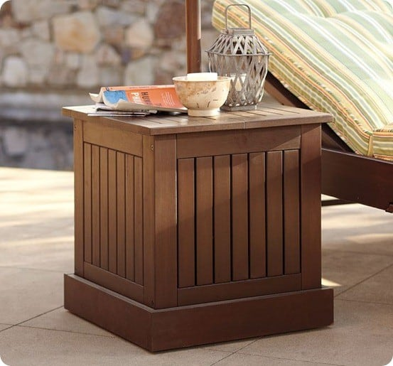 Umbrella Stand Side Table With Free Plans Knockoffdecor Com