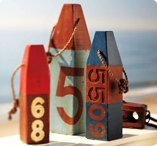 Distressed Wood Buoys
