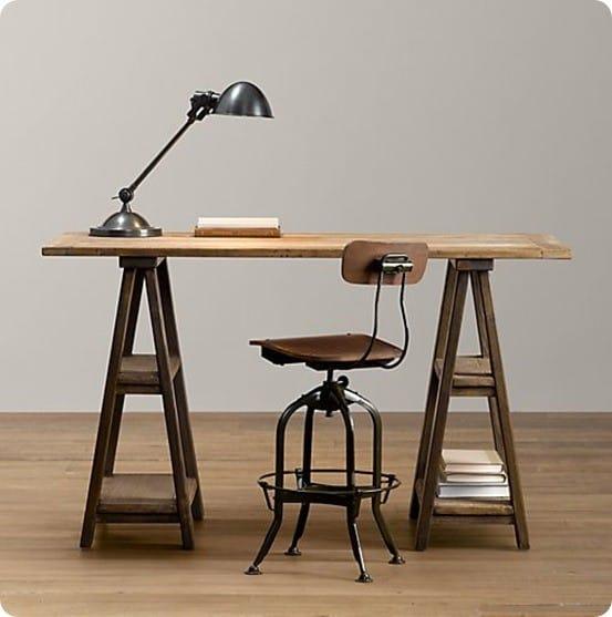Sawhorse Desk : Sawhorse Trestle Desk from knockoffdecor.com size 553 x 557 jpeg 51kB