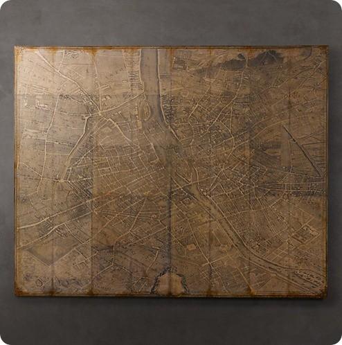 Turgot's 1739 Plan de Paris Decoupage Map