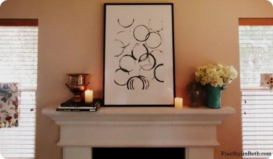 diy abstract circle art