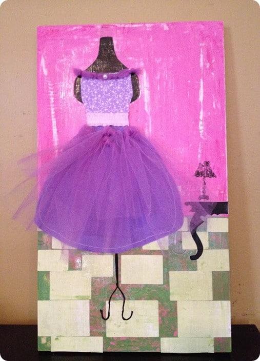 diy dress form painting