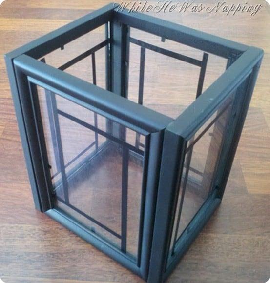 diy picture frame lantern