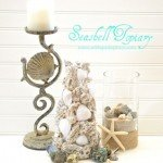 diy seashell topiary