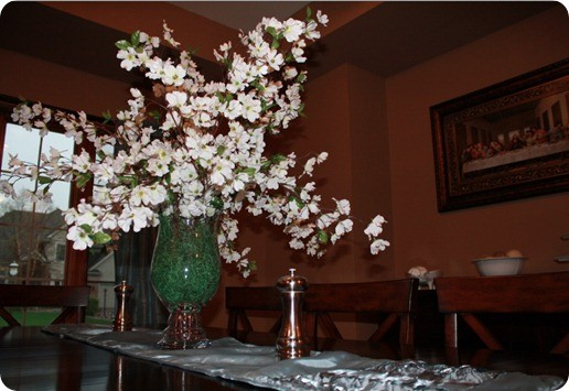 easter floral centerpiece