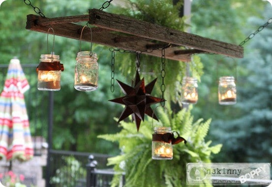 hanging lantern ladder