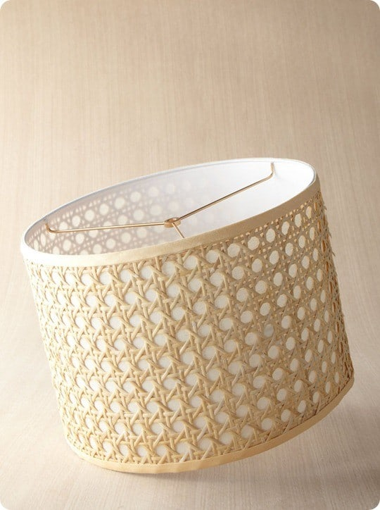 horchow natural cane lampshade