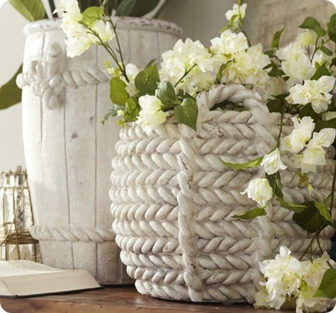 pb ceramic rope vases