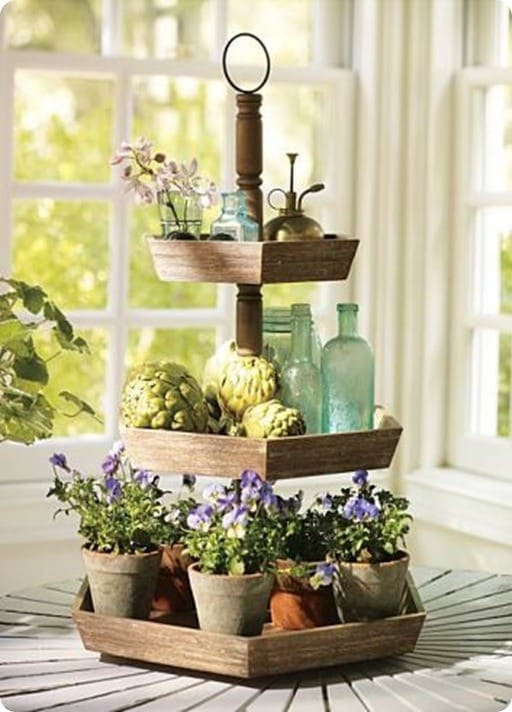 pottery barn garden 3-tier stand