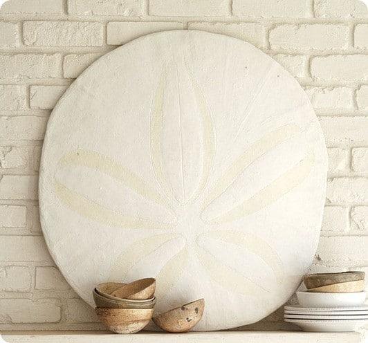 pottery barn oversized sand dollar