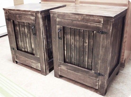 rh inspired planked nightstands