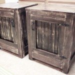 Rustic Planked Nightstands