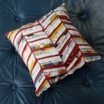 Selvage Chevron Pillow