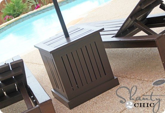 umbrella stand side table