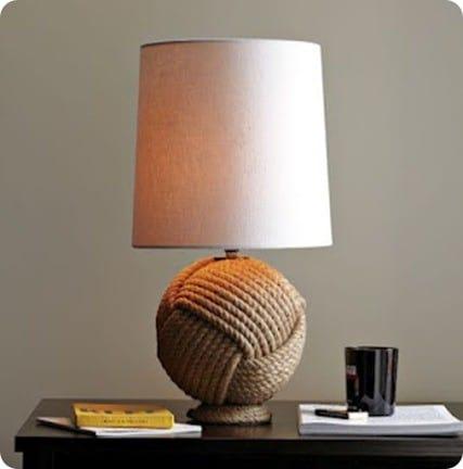 nautical rope lamp. Black Bedroom Furniture Sets. Home Design Ideas