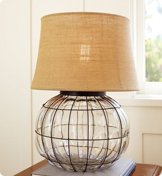 CAGED GLASS TABLE LAMP