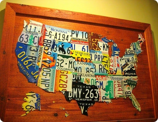 License Plate Us Map Knockoffdecorcom - Us-map-with-license-plates