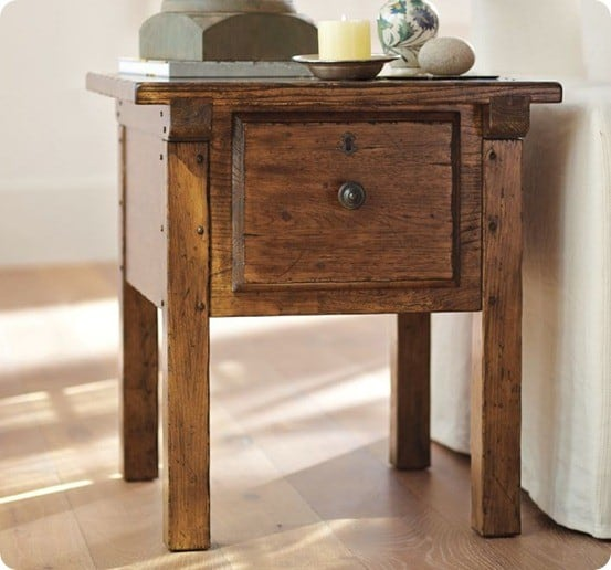 Rustic Wood Side Table ~ Rustic wood side table