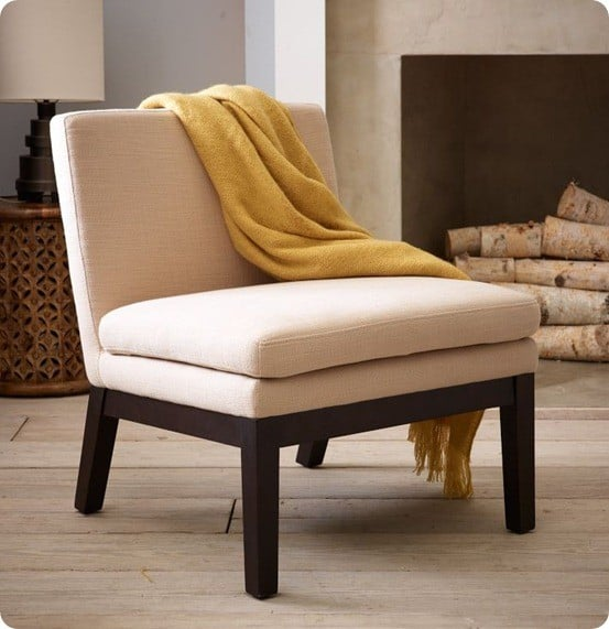 Upholstered Slipper Chair
