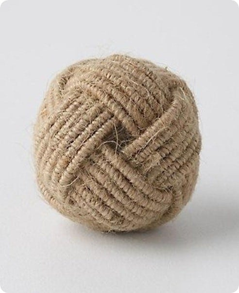 anthro coiled rope knob