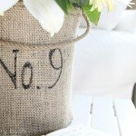 Tin Can Burlap Vase