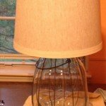 Glass Lantern Table Lamp