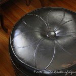 Faux Leather Pouf