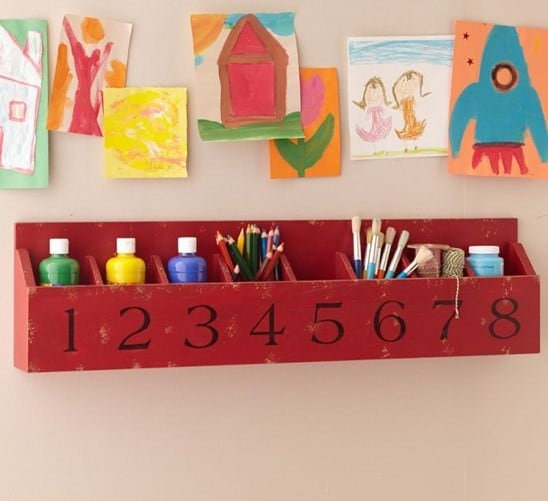 Numbered Storage Cubbies